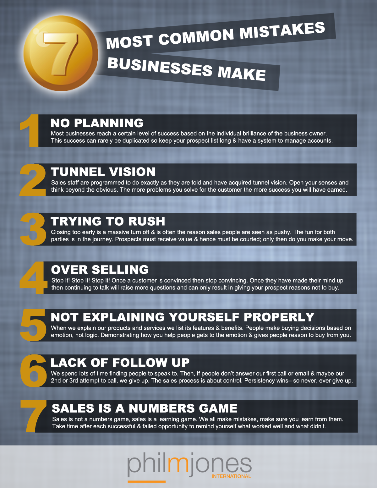 7 Most Common Business Mistakes
