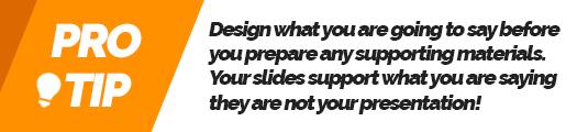 Presenting like a pro Presentation Slides Pro Tip