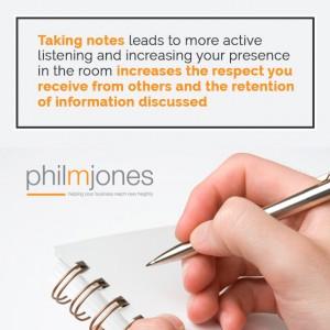 Note Taking Phil m jones pro tip 7