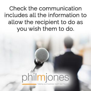 communication business tip phil m jones